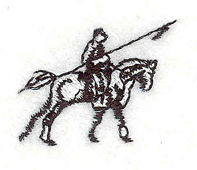 Embroidery Design: Horse with rider0.94H x 1.25W