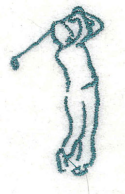 Embroidery Design: Golfer 1.06w X 1.94h