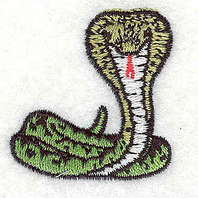 Embroidery Design: Cobra 1.50w X 1.56h