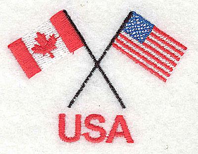 Embroidery Design: USA (Canada USA flags) 2.50w X 1.81h