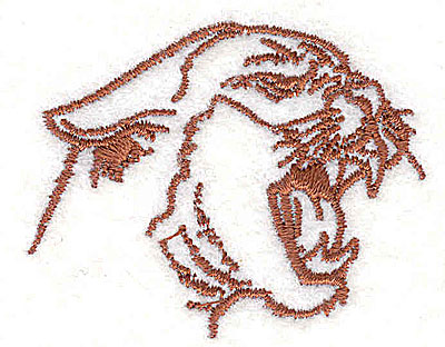 Embroidery Design: Cougar head 2.00w X 1.63h