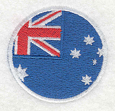 Embroidery Design: Australian flag 2.00w X 2.00h