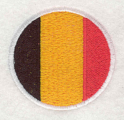 Embroidery Design: Belgian flag 2.00w X 2.13h