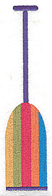 Embroidery Design: Colorful oar 1.25w X 5.69h
