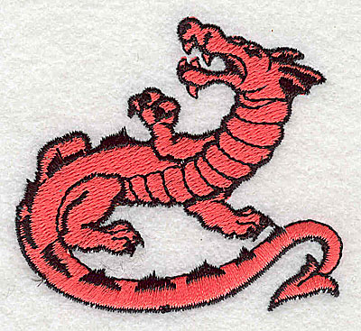 Embroidery Design: Dragon 2.56w X 2.38h