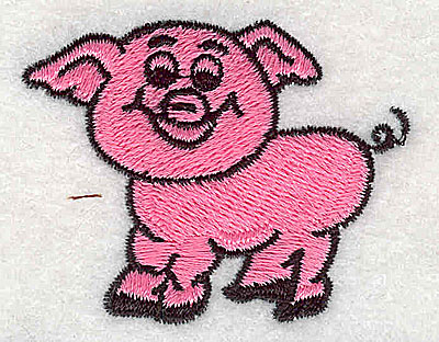 Embroidery Design: Pig 2.00w X 1.56h