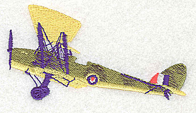Embroidery Design: Vintage airplane 3.44w X 1.19h