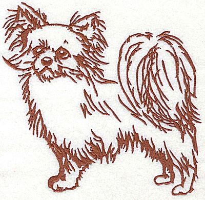 Embroidery Design: Pomeranian 6.38w X 6.25h