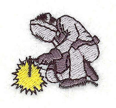 Embroidery Design: Welder 1.13w X 1.06h