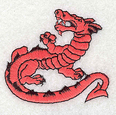 Embroidery Design: Dragon 2.13w X 1.94h