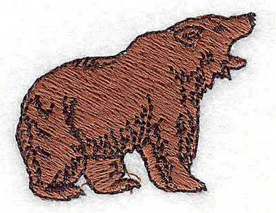 Embroidery Design: Bear 1.56w X 1.25h