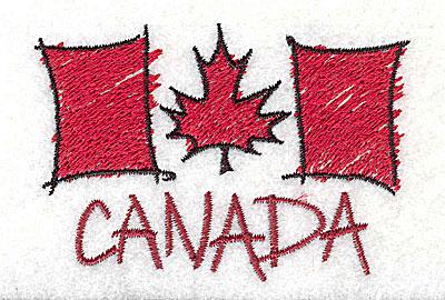 Embroidery Design: Canada 2.94w X 2.00h