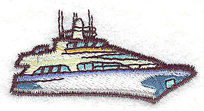 Embroidery Design: Yacht 2.19w X 1.06h