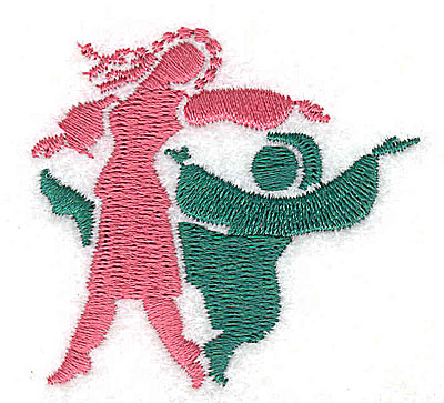Embroidery Design: Ethnic dancers 2.00w X 1.88h