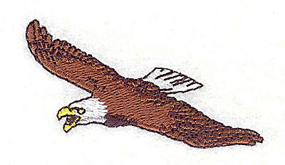 Embroidery Design: Eagle 2.38w X 1.63h