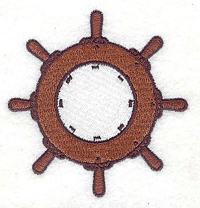 Embroidery Design: Ship's wheel 3.00w X 3.13h
