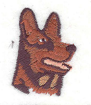 Embroidery Design: German Shepherd  1.75w X 1.31h