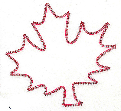 Embroidery Design: Maple leaf 5.06w X 4.81h