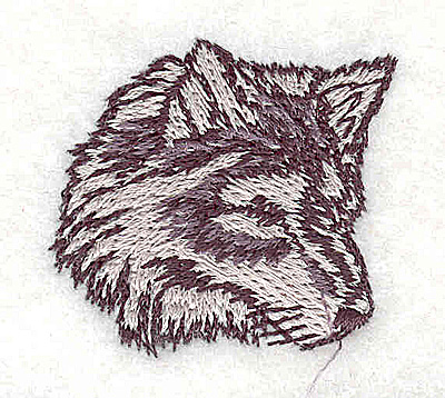 Embroidery Design: Wolf head 1.44w X 1.38h