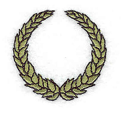 Embroidery Design: Wreath 1.56w X 1.50h