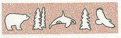 Embroidery Design: Bear Whale Eagle 3.94w X 2.38h