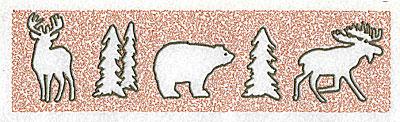 Embroidery Design: Deer Bear Moose 8.88w X 2.38h