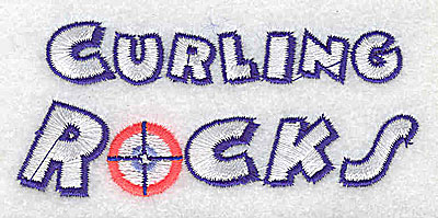 Embroidery Design: Curling rocks 3.59w X 1.56h