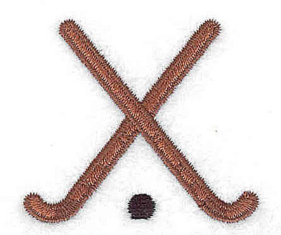 Embroidery Design: Field Hockey sticks and ball 1.81w X 1.63h