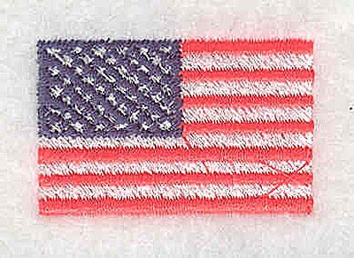 Embroidery Design: American Flag 1.50w X 0.94h