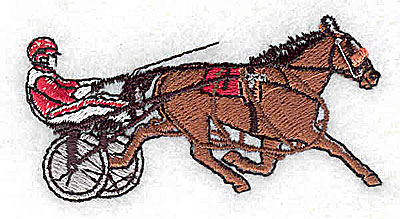 Embroidery Design: Sulky horse racing 1.63w X 1.38h