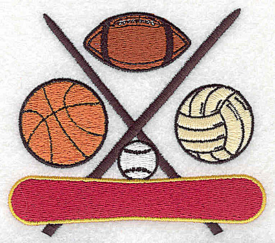 Embroidery Design: Sports Balls3.13W x 3.56H