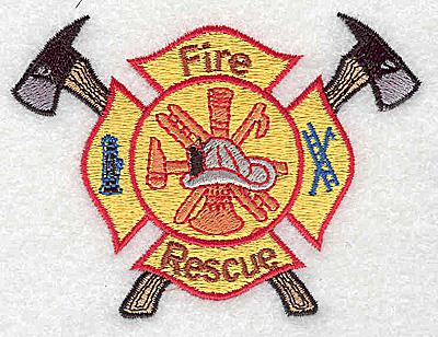 Embroidery Design: Fire Rescue Logo2.56W x 3.50H