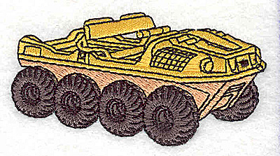 Embroidery Design: Military Vehicle1.63W x 3.19H