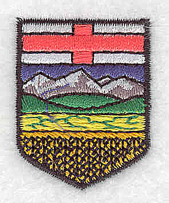 Embroidery Design: Alberta Code of Arms2.50W x 1.13H