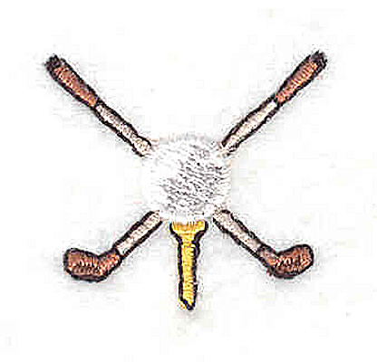 Embroidery Design: Crossed Golf Clubs1.13W x 1.25H