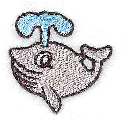 Embroidery Design: Whale1.38W x 1.69H