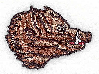 Embroidery Design: Wild Boar 2.31w X 1.69h