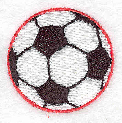 Embroidery Design: Soccer ball 1.94w X 1.88h