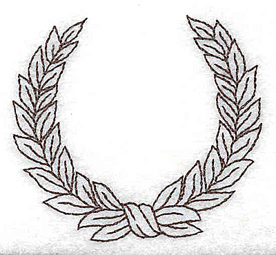 Embroidery Design: Wreath 2.44w X 2.19h