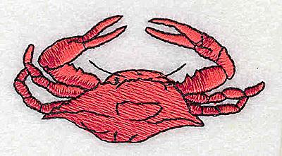 Embroidery Design: Crab 2.69w X 1.38h