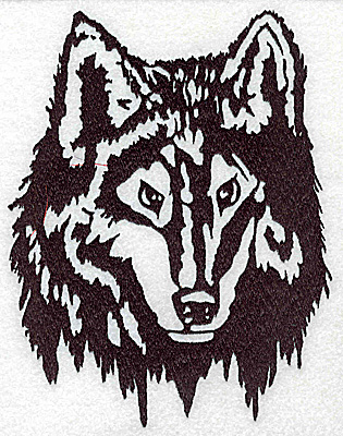 Embroidery Design: Wolf head 5.63w X 7.38h