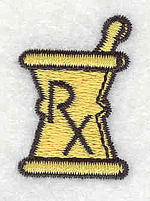 Embroidery Design: Pharmacy logo RX<br> 0.94w X 1.31h
