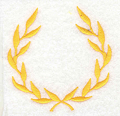 Embroidery Design: Laurel leaves 3.00w X 2.94h