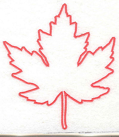 Embroidery Design: Maple leaf outline 4.44w X 5.00h