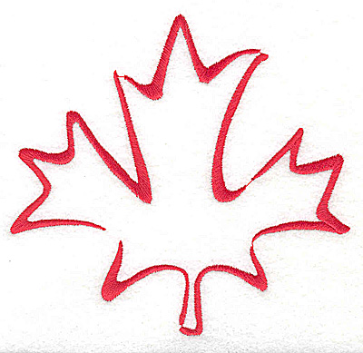 Embroidery Design: Maple leaf stylized 4.81w X 4.56h