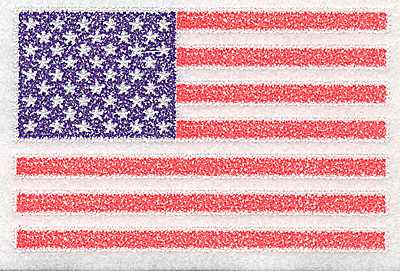 Embroidery Design: American flag 5.94w X 3.88h