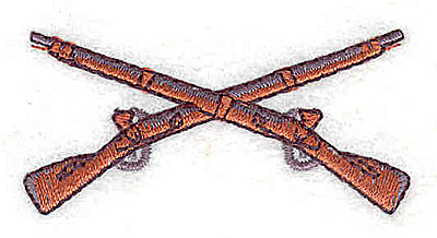Embroidery Design: Crossed rifles 2.31w X 1.06h