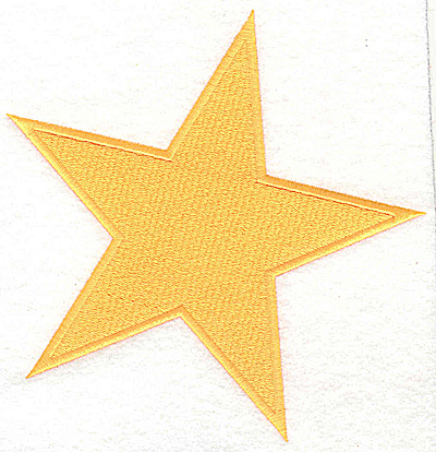 Embroidery Design: Star large 6.00w X 6.19h