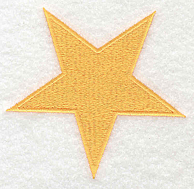 Embroidery Design: Star small 3.44w X 3.25h