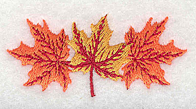 Embroidery Design: Fall leaves 2.38w X 1.13h